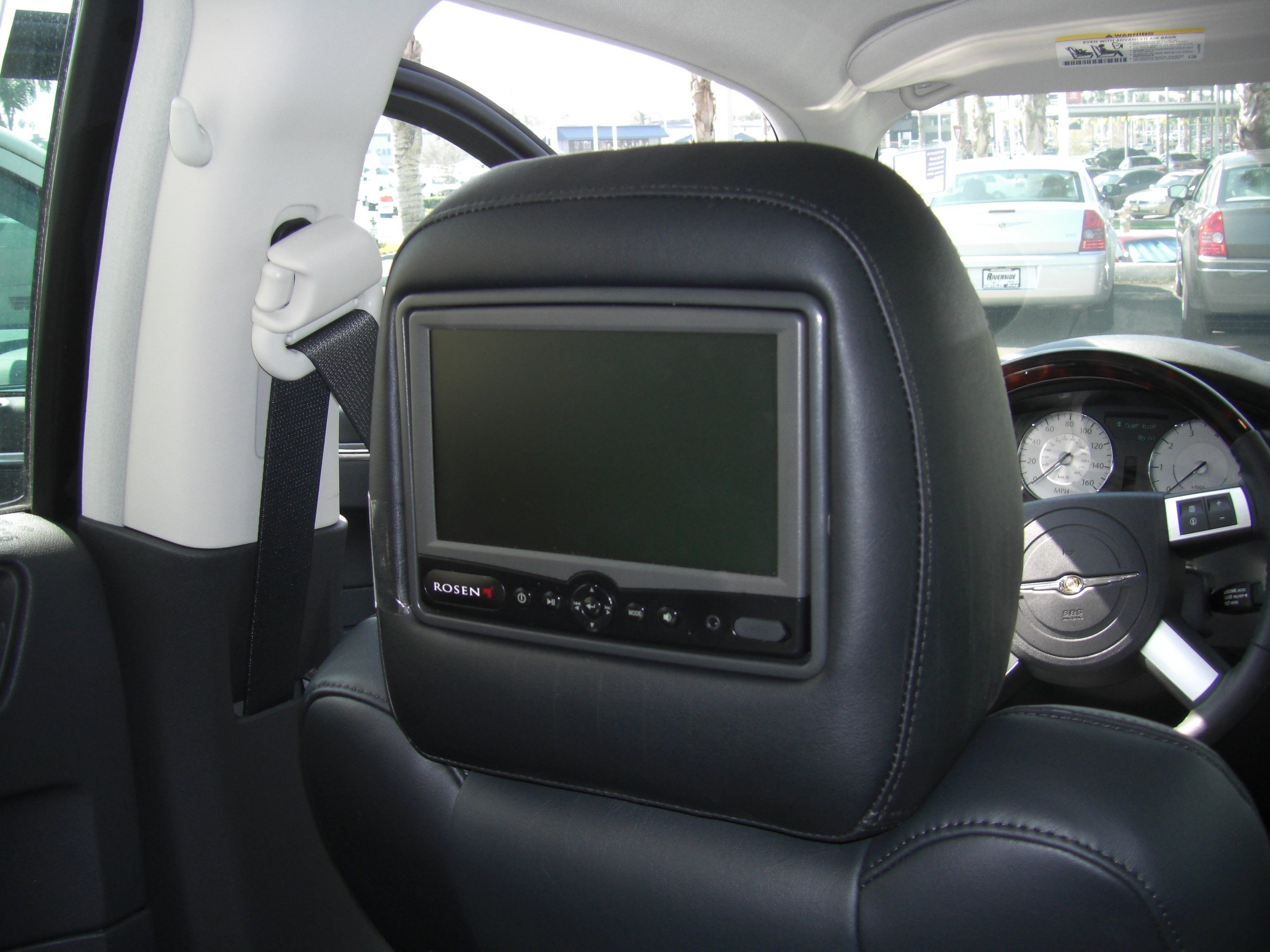 Chrysler Rear Seat Entertainment Rosen Av7500 Dvd Headrest