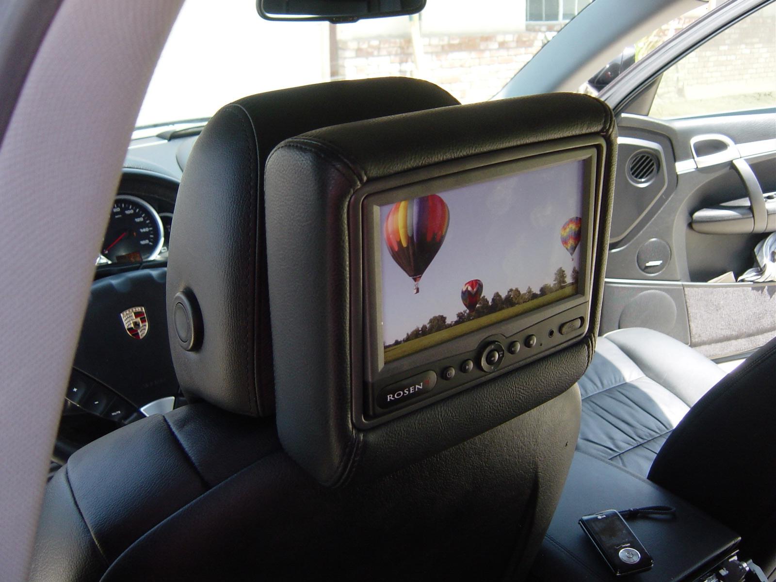 Porsche Cayenne Rear Seat Entertainment Rosen Dvd Headrest