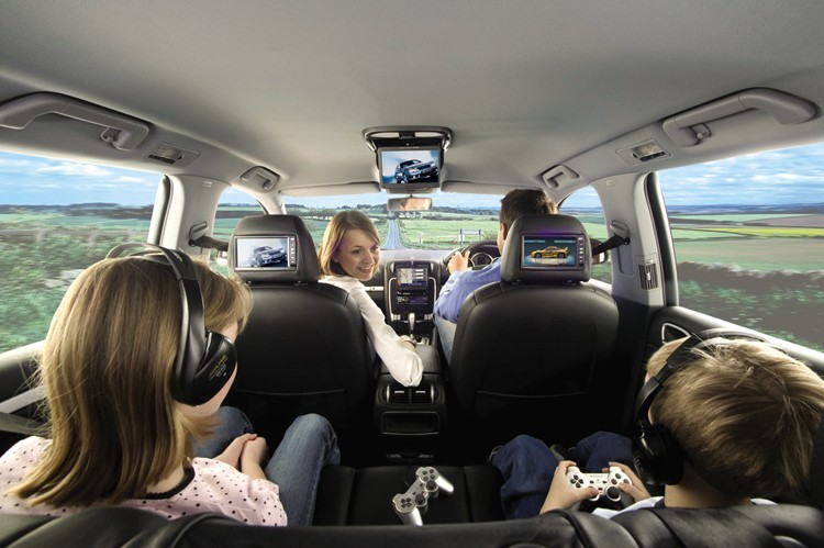 rosen av7700 mercedes e350 rear seat twin dual dvd srs. Black Bedroom Furniture Sets. Home Design Ideas